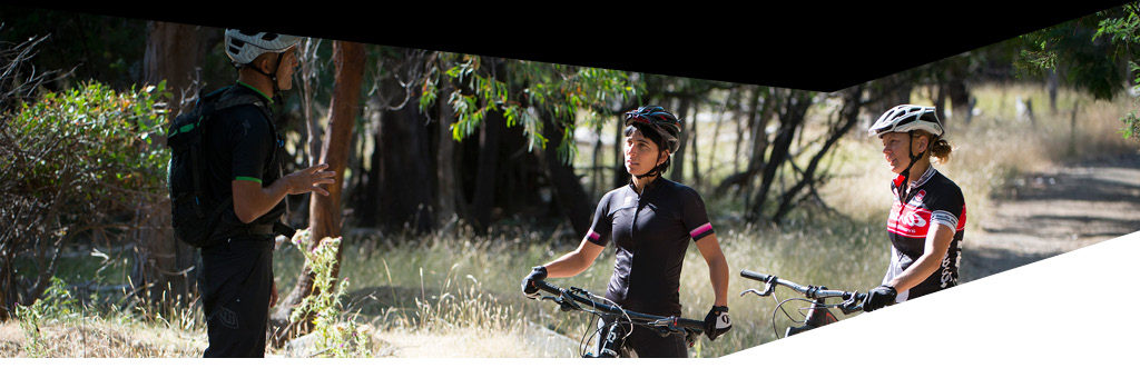 woman bike coaching hobart